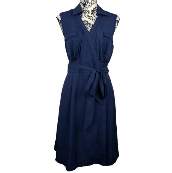 41 Hawthorn Dresses & Skirts - 👻 41 Hawthorn Blue Sleeveless Wrap Dress